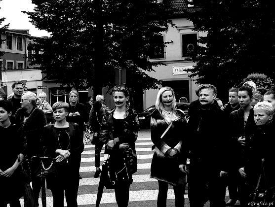 Czarny protest w Gryficach