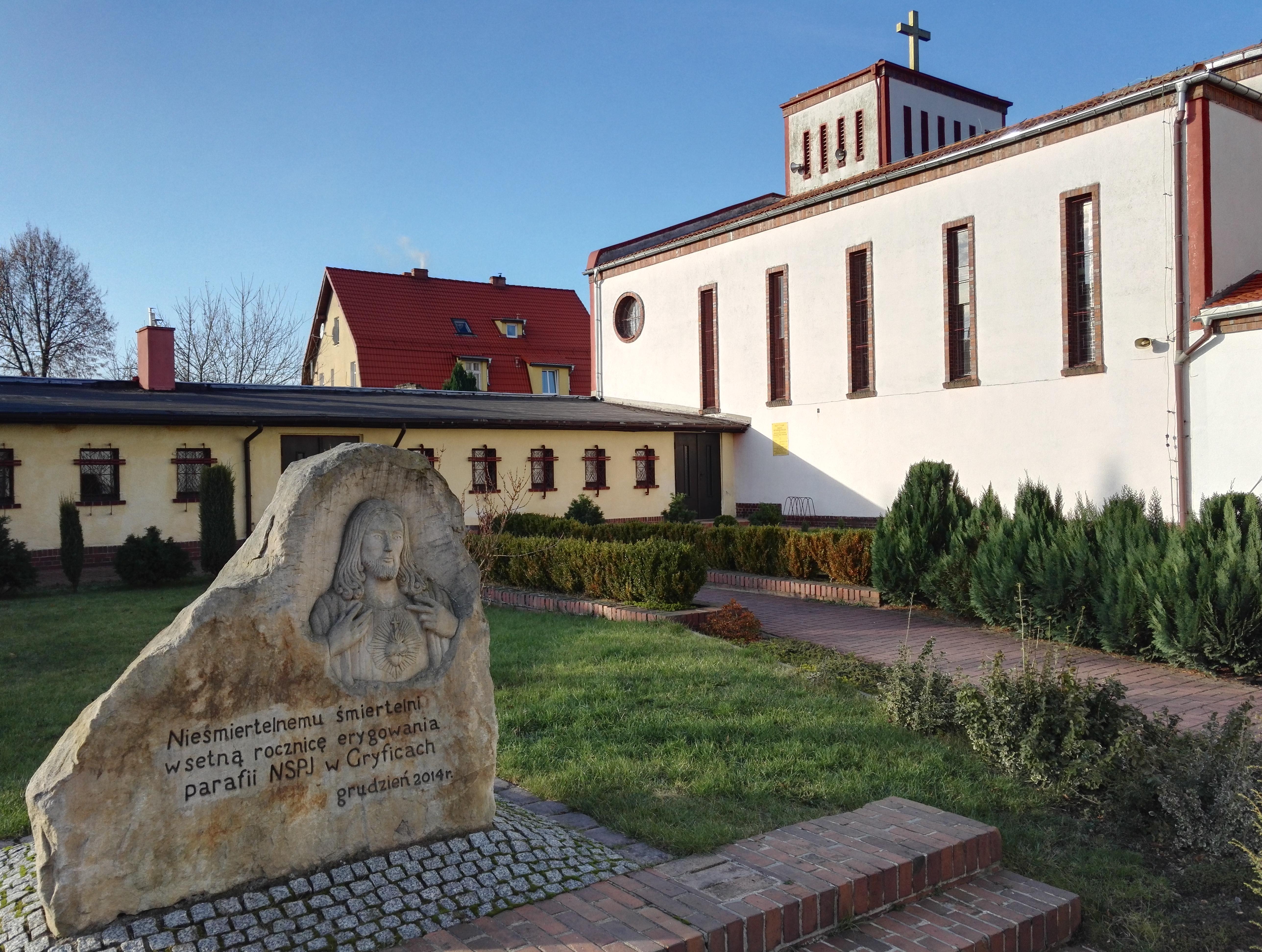 mały kościół w gryficach pod wezwaniem Najświętszego Serca Pana Jezusa (NSPJ) ul. Górska 8