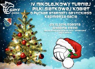 Mikołajkowy Turniej Piłki Siatkowej w Gryficach