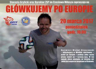 """""""Główkujemy po Europie"""" - plakat"""