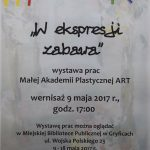 Wystawa prac Małej Akademii Plastycznej ART