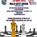 Mistrzostwa w szachach - plakat