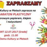 maraton plastyczny - plakat