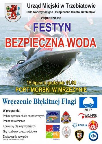 bezpieczna woda - plakat