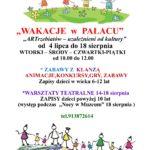 """""""Wakacje w Pałacu"""" - plakat"""