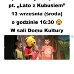 """Lato z Kubusiem"" plakat"