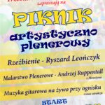 Piknik artystyczno-plenerowy - plakat