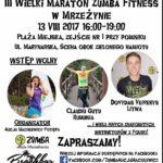 Maraton fitness - plakat