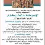 Jubileusz 500 lat Reformacji - plakat