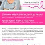 bezpłatne badanie mammograficzne - plakat