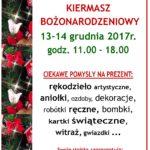 Kiermasz Bożonarodzeniowy - plakat