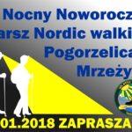 IV Nocny Marsz Nordic Walking - plakat