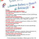 ferie w domu kultury w Płotach - plakat