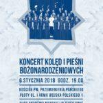 Koncert kolęd i pieśni bożonarodzeniowych - plakat