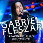 Gabriel Fleszar zagra w Domu Kultury w Płotach. koncert w Płotach, kwiecień 2018