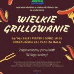 wielkie grillowanie, Płoty, maj 2018, plakat