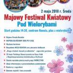 Majowy Festiwal Kwiatowy Pod Wielorybami, Rewal, maj 2018, plakat