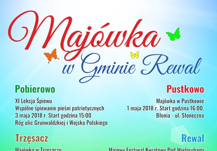 majówka 2018, gmina Rewal, majówka w gminie Rewal