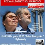 Spotkanie w Pałacu Ptaszynka w Rybokartach,, Joanna i Andrzej Gwiazdowie, Rybokarty, maj 2018