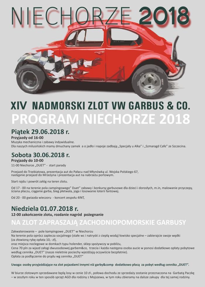 XIV Nadmorski Zlot Garbusów, Niechorze 2018
