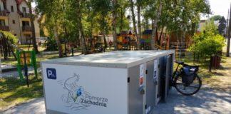 W ramach projektu Biking South Baltic w Mrzeżynie otwarto pierwsze w Polsce boksy rowerowe.