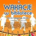 zajęcia w bibliotece w Gryficach, sierpień 2018