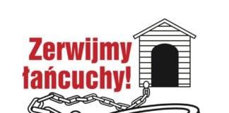 akcja przeciwko trzymaniu psów na stałe na łańcuchach. Źródło:Facebook/Zerwijmy Łańcuchy Gryfice