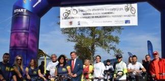 Ścieżka rowerowa Nowielice-Mrzeżyno została oficjalnie otwarta. Fot. Facebook/Gmina Trzebiatów
