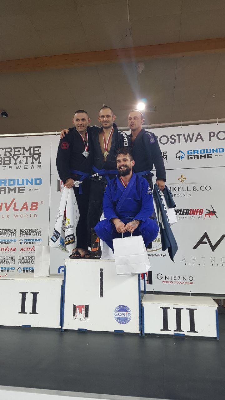 Krzysztof Senejko, zawodnik z Gryfic, wywalczył złoty medal na Mistrzostwach Polski BJJ!