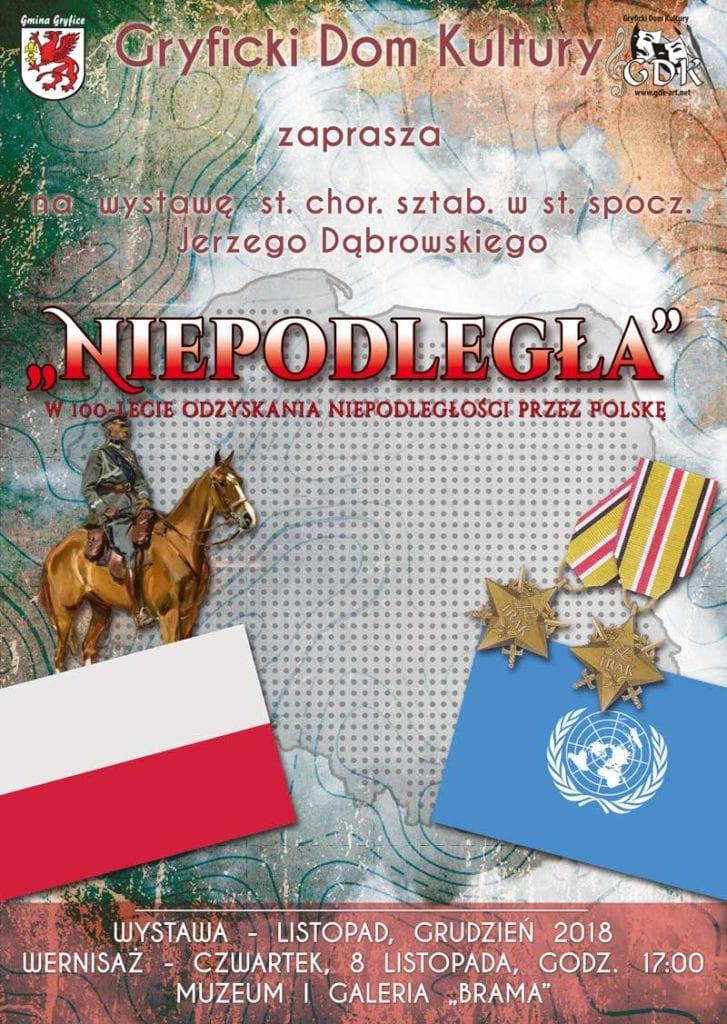 """W najbliższy czwartek odbędzie się wernisaż wystawy Jerzego Dąbrowskiego pt. """"Niepodległa""""."""