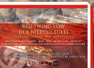 W najbliższą sobotę, 10 listopada, odbędzie się koncert orkiestry Red Swing Low z okazji 100-lecia niepodległości Polski.
