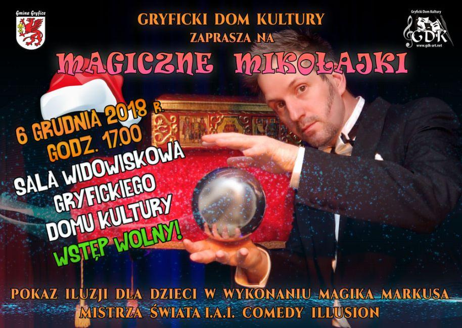 Gryficki Dom Kultury zaprasza na pokaz iluzji dla dzieci w wykonaniu Magika Markusa.