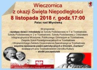 Dzisiaj w Trzebiatowie odbędzie się wieczornica z okazji Święta Niepodległości.