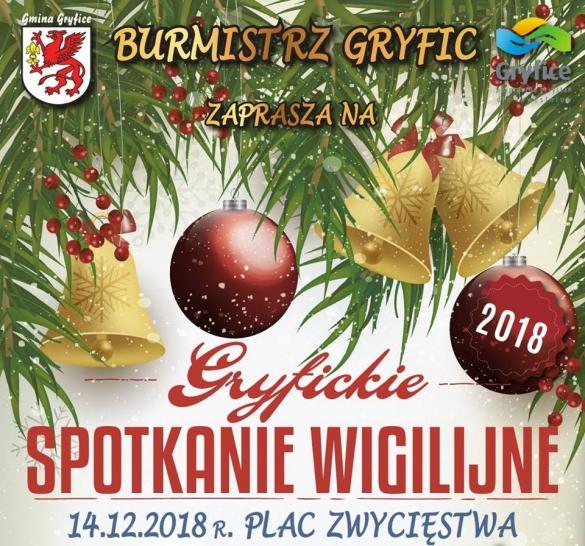 14 grudnia w Gryficach odbędzie się miejskie spotkanie wigilijne!