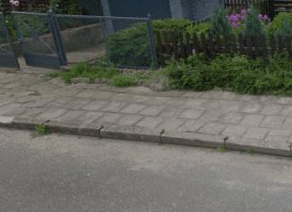 Stare płyty chodnikowe na ulicy Orkana już niebawem zmienią się w nową kostkę brukową.