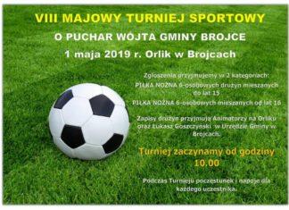 W Brojcach majówka 2019 upłynie pod znakiem piłki nożej - już 1 maja VIII Turniej Sportowy!