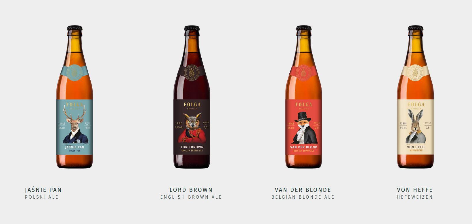 Piwa które można kupić w gryfickim browarze Folga