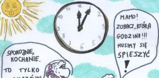 Szczęśliwi czasu nie liczą. Zwłaszcza czasu spędzanego z najbliższymi! Autor obrazka: ŚwiatOwiec i Stworki, https://www.facebook.com/owceistworki/