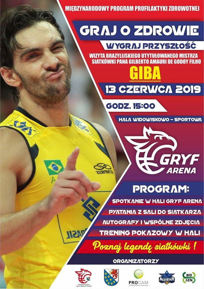 13 czerwca w Gryf Arenie wyjątkowe wydarzenie - spotkanie z brazylijskim mistrzem siatkówki GIBA!