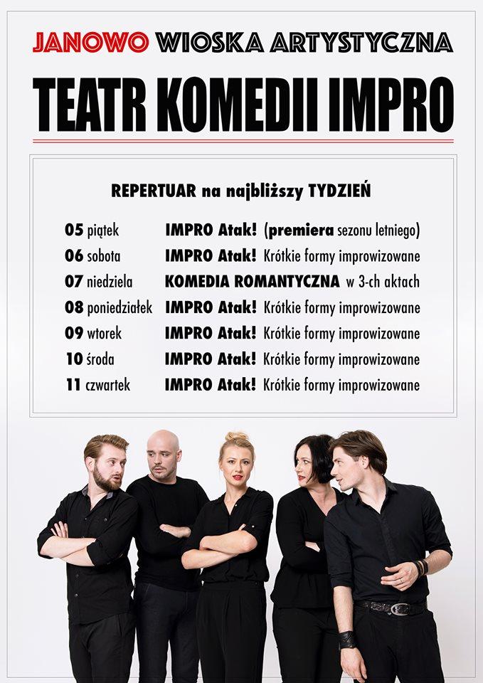 Przygotujcie się na Impro Atak! Wioska Artystyczna Janowo rozpoczyna sezon 2019 już 5 lipca.