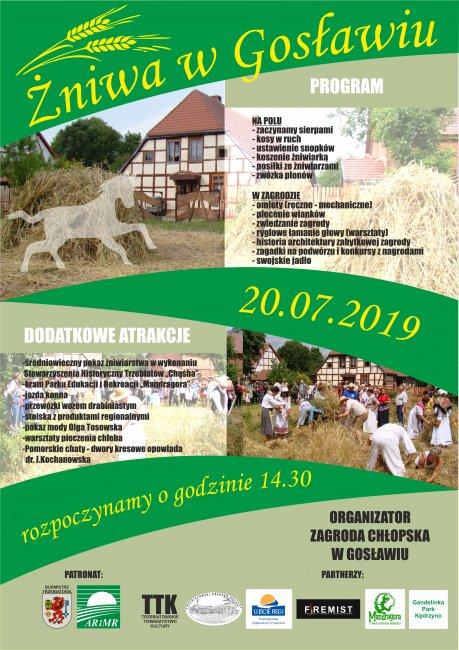 Historyczne Żniwa w Gosławiu - weź udział w imprezie plenerowej.