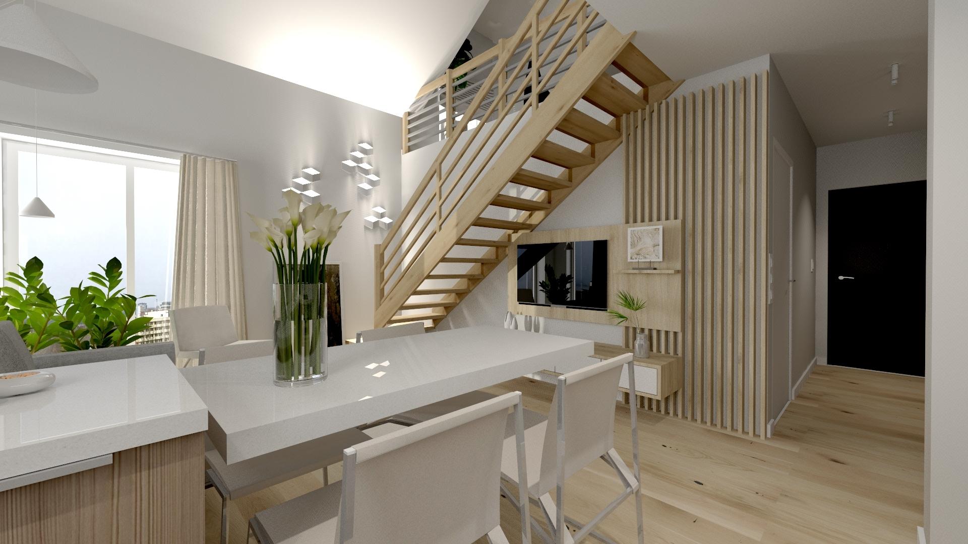 Wizualizacja mieszkania na Osiedlu Sosenki w Gryficach