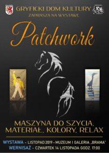 """Patchwork pt. """"Maszyna do szycia, materiał, kolory, relax""""."""