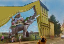 mural w Trzebiatowie