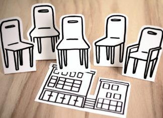 krzesła protest